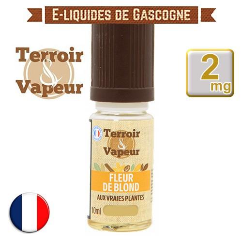 E-liquide Fleur de Blond Classique - Terroir et Vapeur - 10 ml en 2 mg