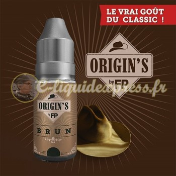 E-liquide Origin's by FP 50/50 Brun Classics 10 ml