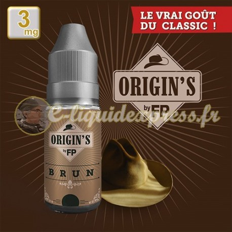 E-liquide Origin's by FP 50/50 Brun Classics 10 ml en 3 mg