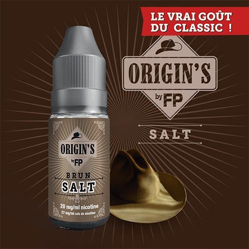 E-liquide Origin's by FP 50/50 Brun Classics 10 ml - 20 mg Sel de Nicotine