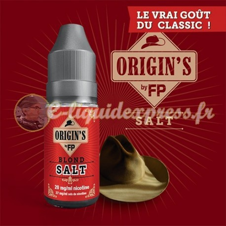 E-liquide Origin's by FP 50/50 Blond Classics 10 ml - 20 mg Sel de Nicotine