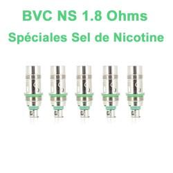 Résistances Aspire BVC NS ( SEL DE NICOTINE ) 1.8 Ohms AIO pod, Nautilus et Nautilus 2-2S, Nautilus GT - Boite de 5 unités