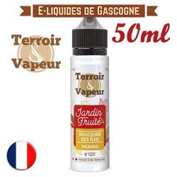 E-liquide Jardin Fruité Terroir Vapeur - Douceurs des îles - Ananas Piña Colada en 50ml
