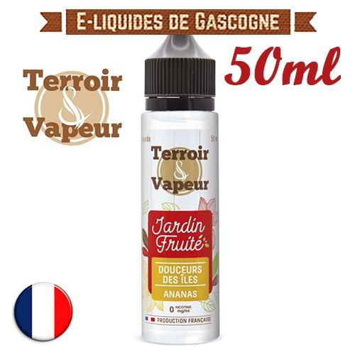 E-liquide Jardin Fruité Terroir Vapeur - Douceur des îles - Ananas Piña Colada en 50ml
