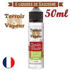 E-liquide Jardin Fruité Terroir Vapeur - Tentations du Verger - Pomme en 50ml