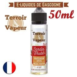 E-liquide Jardin Fruité Terroir Vapeur - Fraîcheur d'été - Melon Menthe en 50ml
