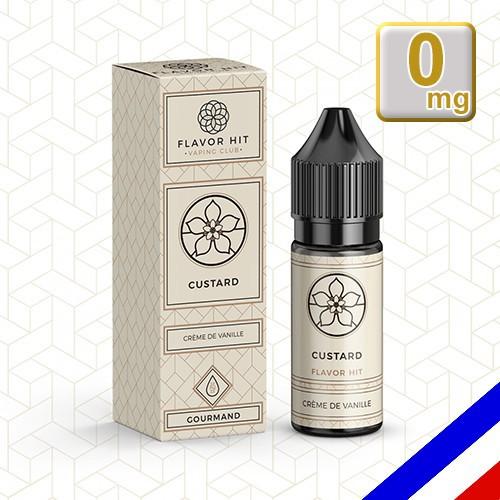 E-liquide Flavor Hit 50/50 Custard - Crème à la vanille - 10 ml en 0 mg