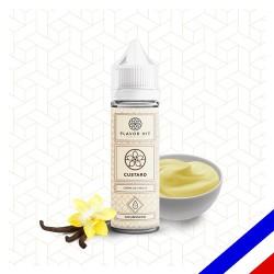 E-liquide Gourmand Flavor Hit 50/50 Custard à booster - Crème à la vanille - 50 ml