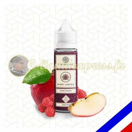 E-liquide Flavor Hit Fruité 50/50 Pink Ladies à booster - Pomme Framboise - 50 ml