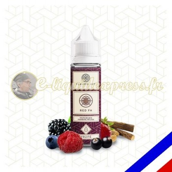 E-liquide Flavor Hit Fruité 50/50 Red FH à booster - Fruits rouges Réglisse - 50 ml