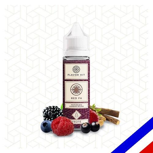 E-liquide Flavor Hit Fruité 50/50 Red FH à booster - Fruits rouges Réglisse - 50 ml