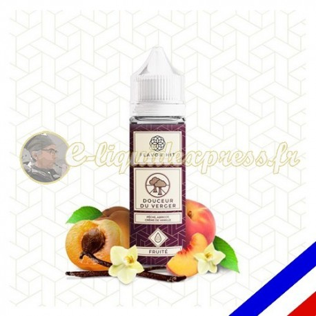 E-liquide Flavor Hit Fruité 50/50 Douceur du Verger à booster - Abricot Vanille - 50 ml