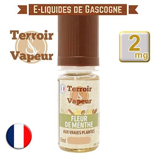 E-liquide Fleur de Menthe Classique Light - Terroir et Vapeur - 10 ml en 2 mg