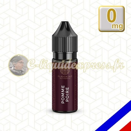 E-liquide Flavor Hit Authentic Fruité 70/30 Pomme Poire -10 ml en 0 mg