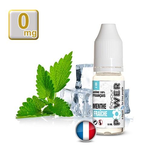 E-liquide Flavour Power 50/50 Menthe Fraiche 10 ml en 0 mg