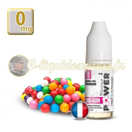 E-liquide Flavour Power 50/50 BB Gum 10 ml en 0 mg