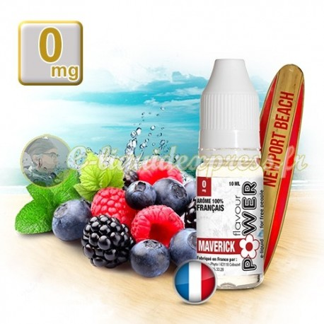 E-liquide Flavour Power 50/50 Maverick - Fruits rouges/Menthe 10 ml en 0 mg