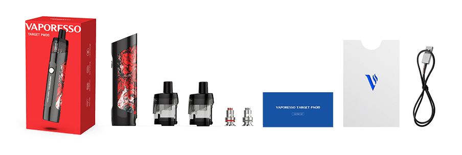 Contenu du kit Traget PM30 de Vaporesso